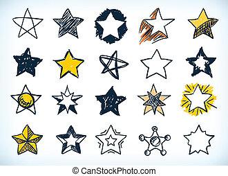 handdrawn, コレクション, 星