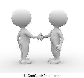 handshake., -, 協力