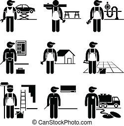 handyman, 巧み, 仕事, 職業
