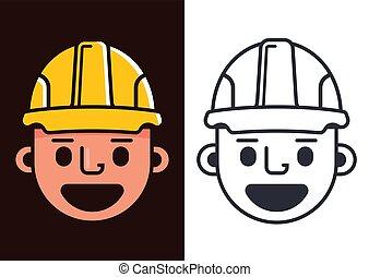helmet., 建築者, 黄色