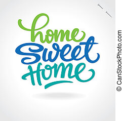 'home, レタリング, 手, home', 甘い