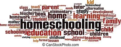 homeschooling, 雲, 単語