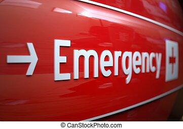 hospital., 印, 緊急事態