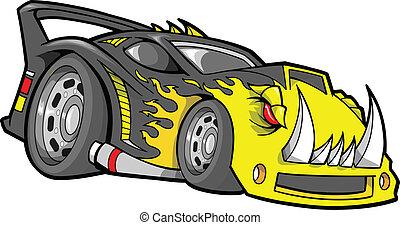 hot-rod, ベクトル, race-car