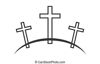 icon., ベクトル, イラスト, calvary