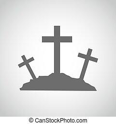 icon., ベクトル, illustration., calvary