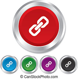 icon., 印, リンク, シンボル。, ハイパーリンク