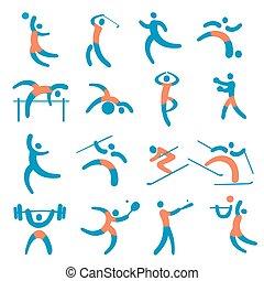 icons., フィットネス, スポーツ