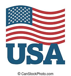 illustration., シンボル, バックグラウンド。, 印, アメリカ, 国民, 成長, 白, 愛国心が強い, 国, 米国, 州, usa., 旗, america.
