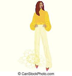 illustration., ベクトル, ファッション