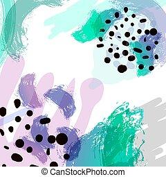 illustration., 単純である, pattern., hand-drawn, 形, 定型, 明るい, ベクトル, 背景