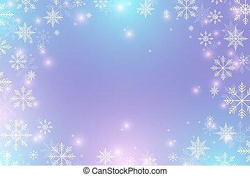 illustration., snowflakes., 年, ベクトル, 背景, 新しい, クリスマス, 幸せ