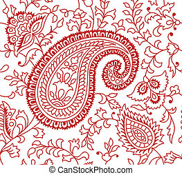 indian, パターン, 織物