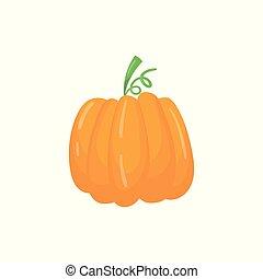 infographic, 平ら, ベクトル, 有機体である, 熟した, 大きい, agronomic, pumpkin., 草本, 明るい, 耕作, 食品。, product., オレンジ, 要素, 農業, plant., 漫画, アイコン