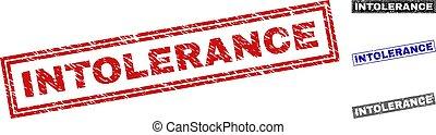 intolerance, スタンプ, グランジ, 長方形, textured
