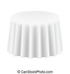 isolated., イラスト, ベクトル, cloth., テーブル, ラウンド, 空