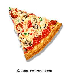 it., チーズ, 切り抜き, 三角形, illustration., 原料, airbrush, 形, 背景, included., 道, 白, いくつか, mozzarella, ピザ