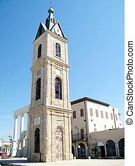 jaffa, タワー, 時計, 古い, 2011