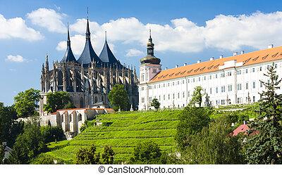 jesuit, hora, kutna, チェコ, st. 。, 共和国, 大聖堂, barbara, 大学