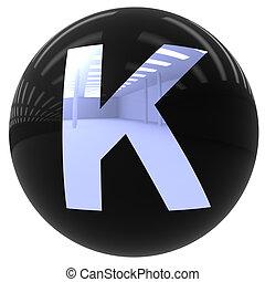 k, ボール, 手紙