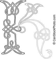 k, 資本, ケルト, 手紙, knot-work