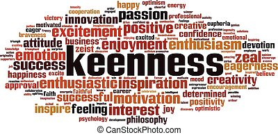 keenness, 単語, 雲