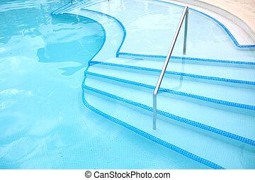 ladder., プール, 水泳