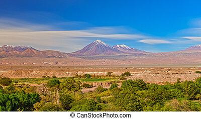 licancabur, 雲, 上に, 長い間, 火山, 綿, さらされること