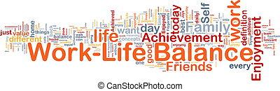 ?life, 概念, バランス, 仕事, 背景