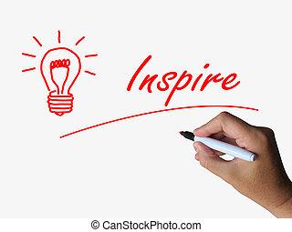 lightbulb, 動機づけ, 促しなさい, 影響, 指名すること, インスピレーシヨン