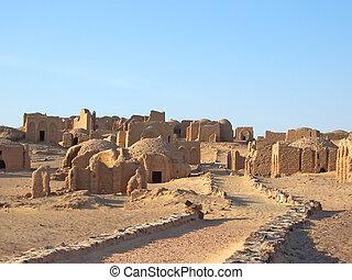 lybian, kharga, エジプト人, エジプト, オアシス, bagawat, 砂漠, necropolis
