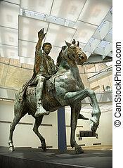 marcus aurelius, statue.