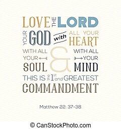 matthew, 印刷, 引用, 愛, 精神, ∥あるいは∥, 神, すべて, について, 聖書, 心, ジグザグ, 背景, 使用, ポスター, 活版印刷, 心