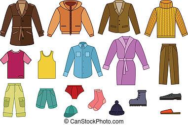 mens, コレクション, 衣類