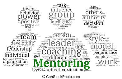 mentoring, 概念, 単語, 雲, タグ