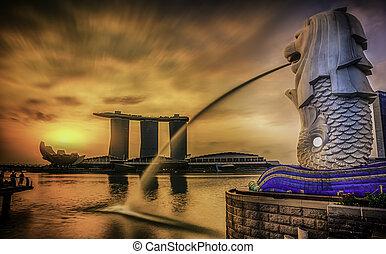 merlion, シンガポール, ランドマーク