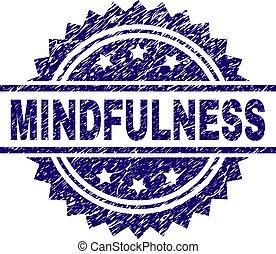mindfulness, textured, 切手, シール, 傷付けられる