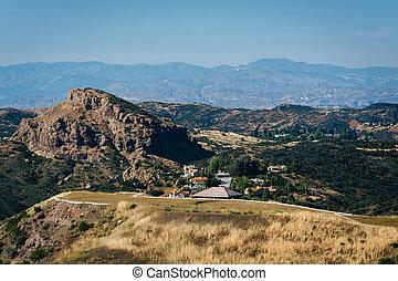 monica, 道, m, decker, 峡谷, santa, 山, 光景