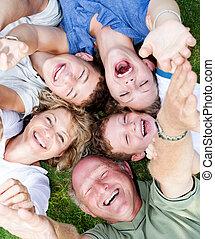 multi-generation, 円, あること, 家族