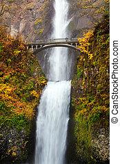 multnomah, 滝, -, オレゴン, 落ちる
