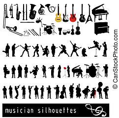 musican, シルエット