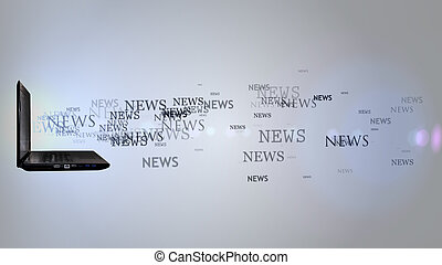 news., ラップトップ, ロット, 単語
