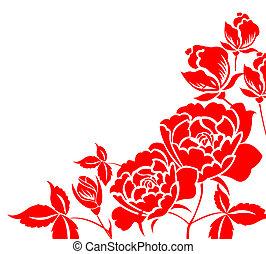 paper-cut, 花, 中国語, シャクヤク