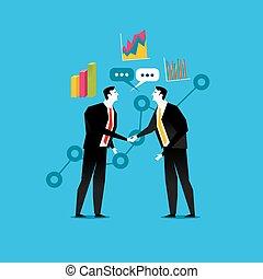partnership., 握手, ビジネス