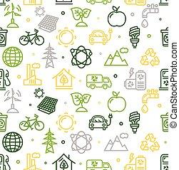 pattern., ベクトル, エコロジー, 背景