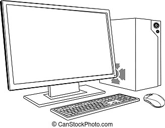 pc, ワークステーション, コンピュータ, デスクトップ