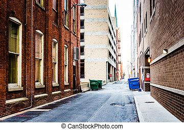 pennsylvania., narrow, アリー, harrisburg