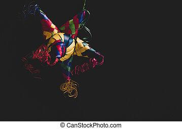 pinata, 肖像画, メキシコ人, カラフルである, 黒い背景