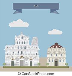 pisa, イタリア, 中央である