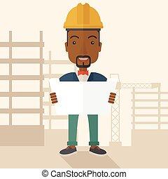 plan., 建築作業員, 保有物, african-american